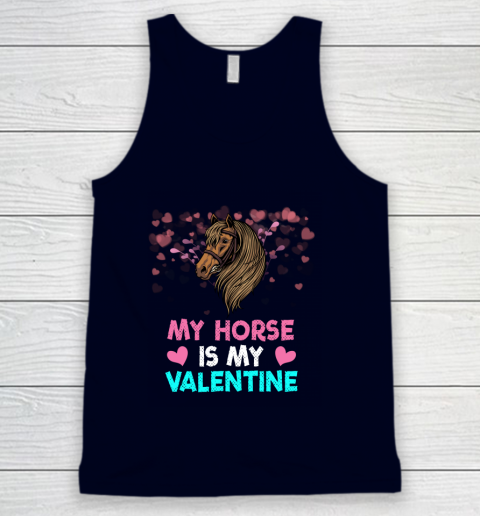 My Horse Is My Valentine Loved Horse Women Gifts Tank Top 2
