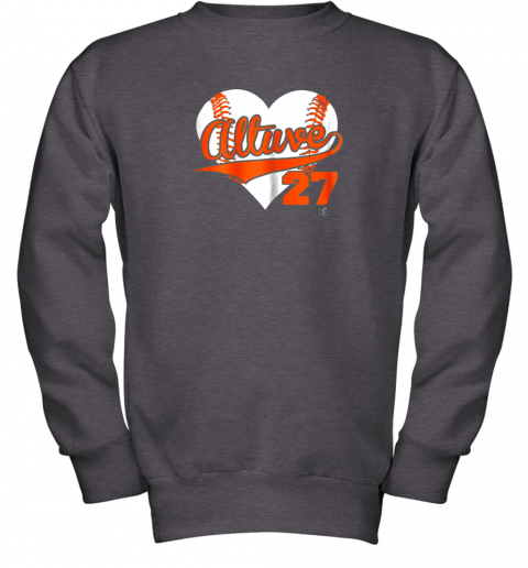 wdkq jose altuve baseball heart shirtapparel youth sweatshirt 47 front dark heather