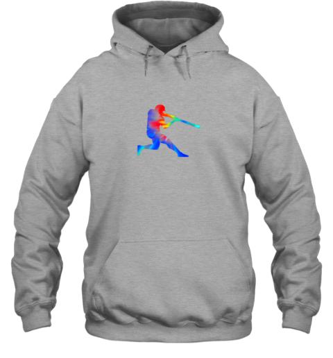 5v8l tie dye baseball batter shirt retro player coach boys gifts hoodie 23 front sport grey