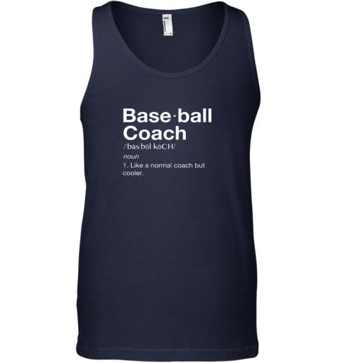 9jjo coach baseball shirt team coaching unisex tank 17 front navy