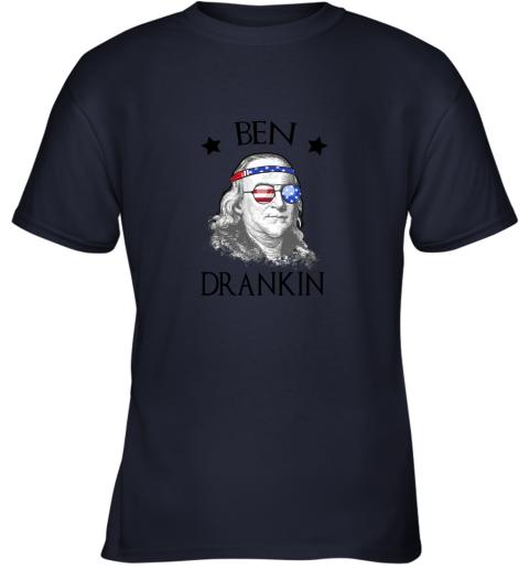 Day 4th Of July Ben Drankin Benjamin Franklin Youth T-Shirt