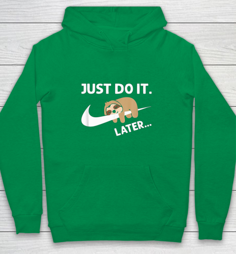 Do It Later Funny Sleepy Sloth For Lazy Sloth Lover Youth Hoodie 4