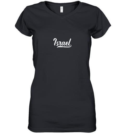 Israel Baseball National Team Fan Cool Jewish Sport Women's V-Neck T-Shirt