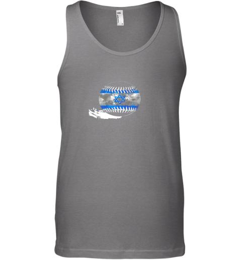 vlyn vintage baseball israel flag shirt israelis pride unisex tank 17 front graphite heather