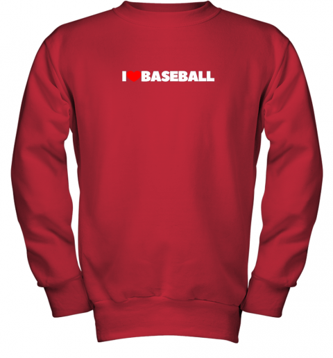 valw i love heart baseball youth sweatshirt 47 front red