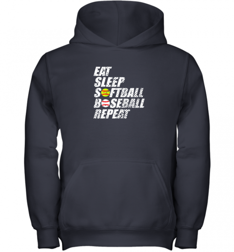 op3p softball baseball repeat shirt cool cute gift ball mom dad youth hoodie 43 front navy