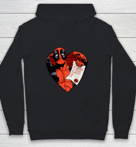 Marvel Deadpool Valentine To Do List Youth Hoodie