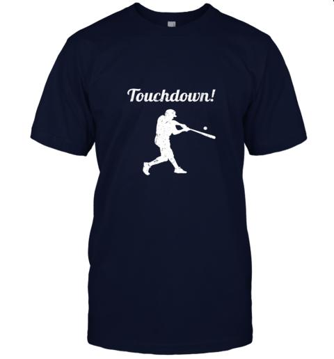 381s touchdown funny baseball jersey t shirt 60 front navy