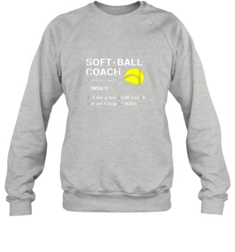z5kc soft ball coach like baseball bigger balls softball sweatshirt 35 front sport grey