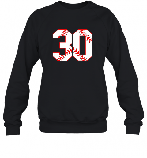 Thirtieth Birthday Party 30th Baseball Shirt Born 1989 Sweatshirt