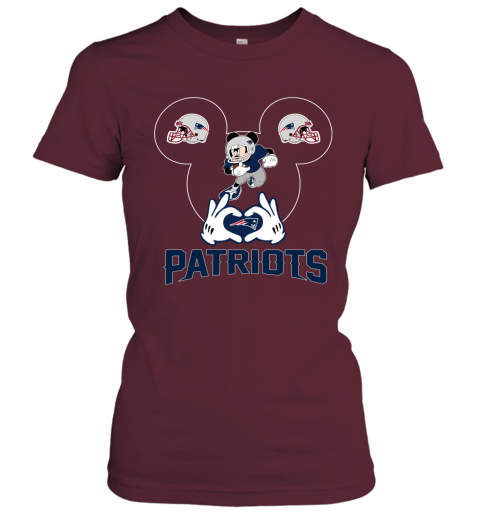 ttdd i love the patriots mickey mouse new england patriots ladies t shirt 20 front maroon