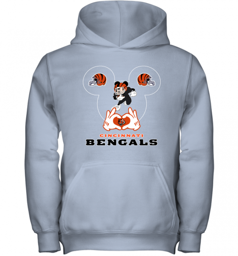 qyyq i love the bengals mickey mouse cincinnati bengals youth hoodie 43 front light pink