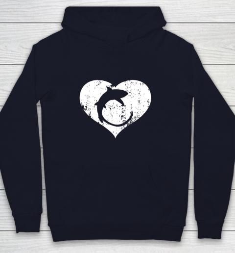 I Love Sharks Gifts Thresher Shark Heart Valentine Gift Youth Hoodie 2