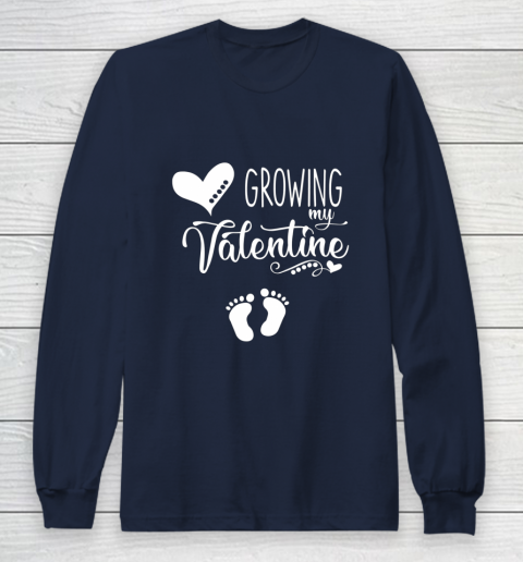 Growing my Valentine Tshirt for Wife Long Sleeve T-Shirt 2