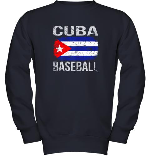 lmr4 cuba baseball cuban flag youth sweatshirt 47 front navy