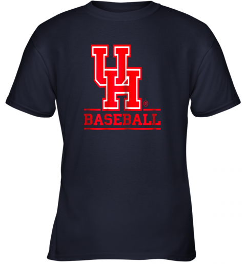 9pbz university of houston cougars baseball shirt youth t shirt 26 front navy