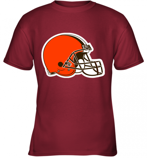 iozq cleveland browns nfl pro line by fanatics branded brown victory youth t shirt 26 front cardinal