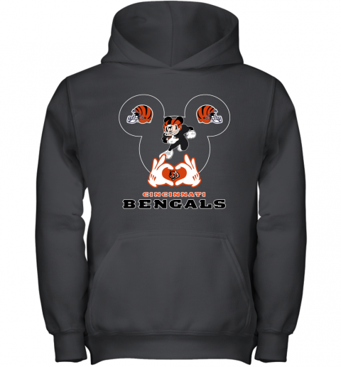 qyyq i love the bengals mickey mouse cincinnati bengals youth hoodie 43 front black