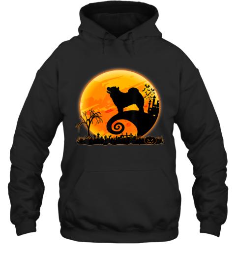 Chow Chow Dog Shirt And Moon Funny Halloween Costume Gift Hoodie