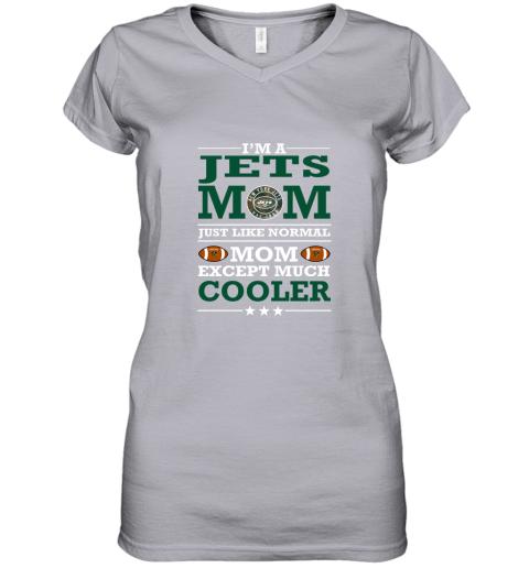 swqz i39 m a jets mom just like normal mom except cooler nfl women v neck t shirt 39 front sport grey