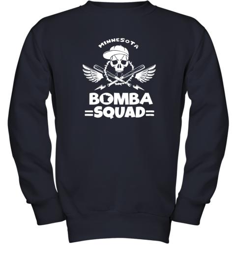 6098 bomba squad twins shirt minnesota baseball men bomba squad youth sweatshirt 47 front navy