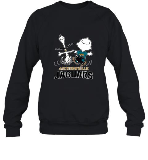 Snoopy & Charlie Brown Happy Jacksonville Jaguars Sweatshirt