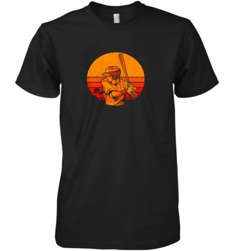 Vintage Baseball Shirt Retro Catcher Pitcher Batter Boys Premium Men's T-Shirt