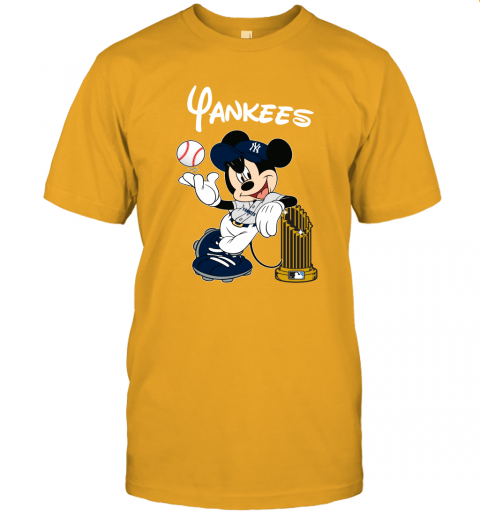 kmlj new york yankees mickey taking the trophy mlb 2019 jersey t shirt 60 front gold