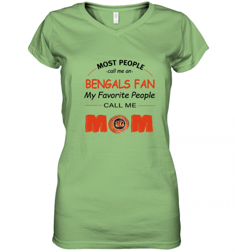 7ex8 most people call me cincinnati bengals fan football mom women v neck t shirt 39 front lime