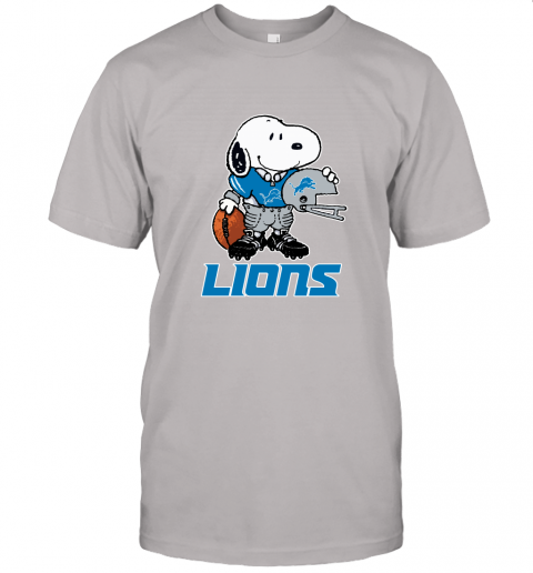 Snoopy A Strong And Proud Detroit Lions Player NFL Unisex Jersey Tee