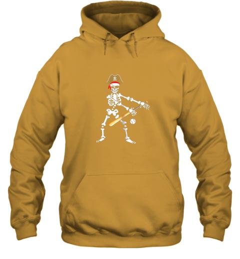 fzo6 skeleton pirate floss dance with baseball shirt halloween hoodie 23 front gold