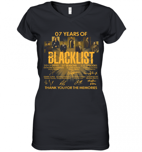 07 Years Of The Blacklist Women's V-Neck T-Shirt