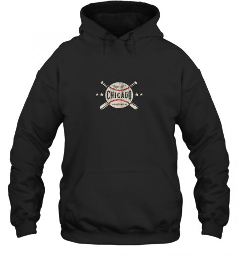 Chicago Illinois IL Shirt Vintage Baseball Graphic Hoodie