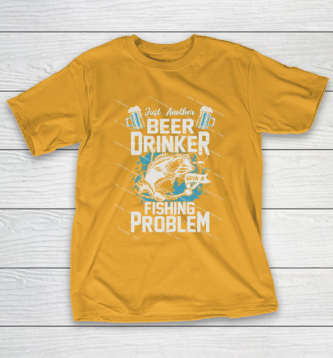 Beer Lover Funny Shirt Fishing ANd Beer T-Shirt 2