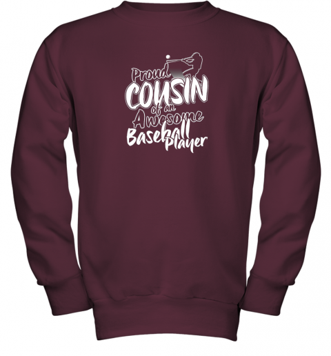 myq7 cousin baseball shirt sports for men accessories youth sweatshirt 47 front maroon