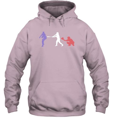 l4hn baseball usa flag american tradition spirit hoodie 23 front light pink
