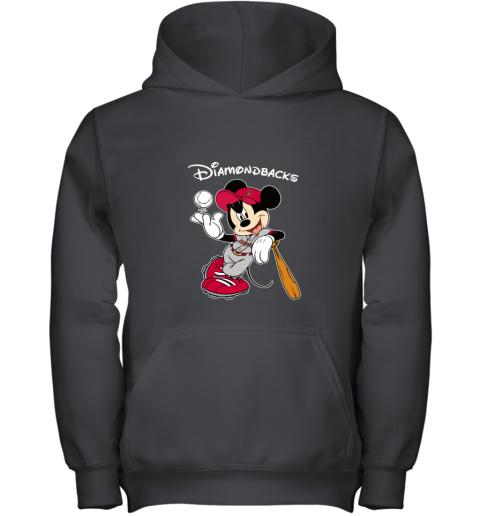 Baseball Mickey Team Arizona Diamondbacks Youth Hoodie