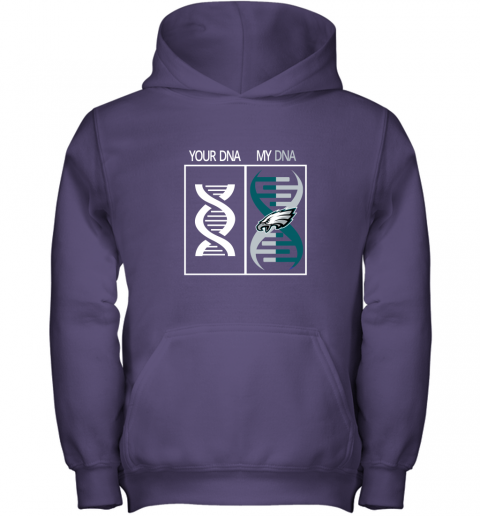 pmuh my dna is the philadelphia eagles football nfl youth hoodie 43 front purple