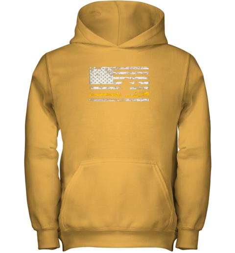 sbqi softball catcher shirts baseball catcher american flag youth hoodie 43 front gold