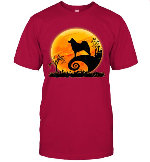Norwegian Elkhound Dog And Moon Funny Halloween Costume Gift T-Shirt