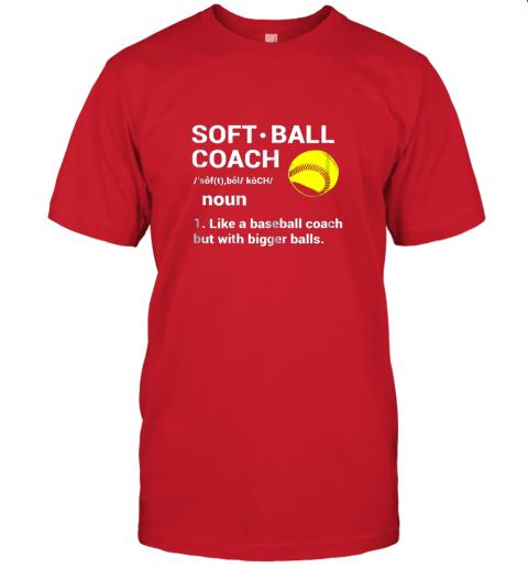 l2tp soft ball coach like baseball bigger balls softball jersey t shirt 60 front red