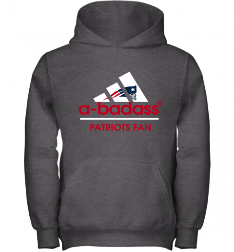 onds a badass new england patriots mashup adidas nfl shirts youth hoodie 43 front dark heather