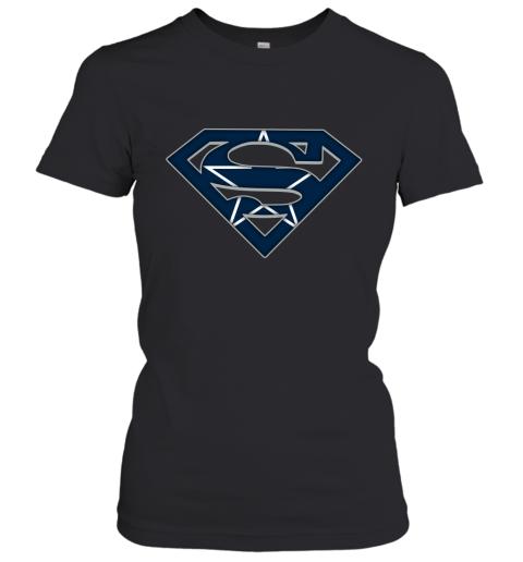We Are Undefeatable The Dallas Cowboys x Superman NFL Women's T-Shirt
