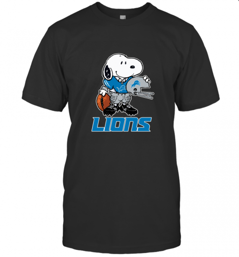 Snoopy A Strong And Proud Detroit Lions Player NFL T-Shirt