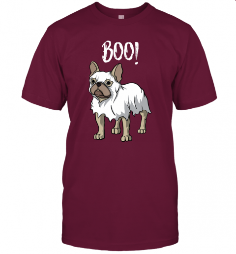 Frenchie Ghost Costume Funny French Bulldog Halloween T-Shirt
