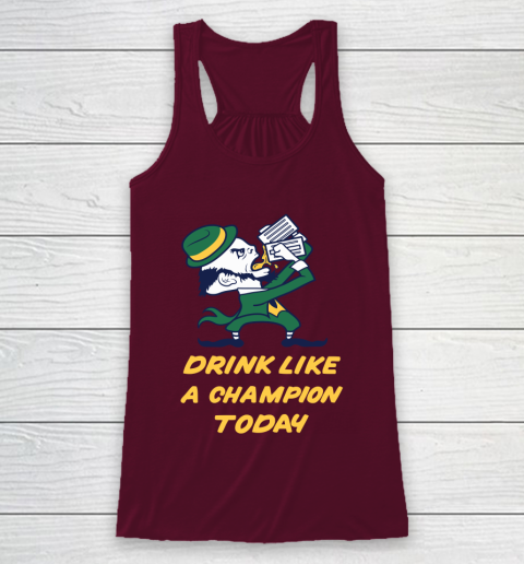 Beer Lover Funny Shirt Drink Like A Champion Today Racerback Tank 2