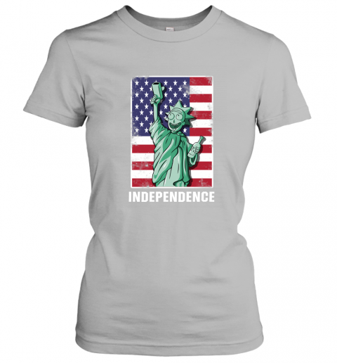 nzlr rick and morty statue of liberty independence day 4th of july shirts ladies t shirt 20 front sport grey