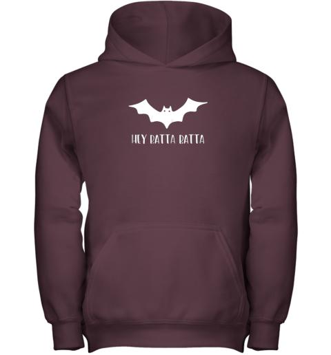 ysrp halloween bat shirt funny baseball lover hey batta gift youth hoodie 43 front maroon