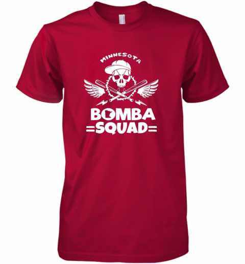zmjd bomba squad twins shirt minnesota baseball men bomba squad premium guys tee 5 front red