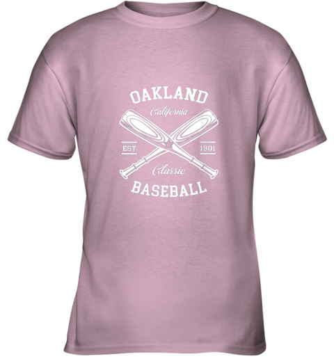 oujz oakland baseball classic vintage california retro fans gift youth t shirt 26 front light pink